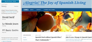 ¡Alegria! on WordPress
