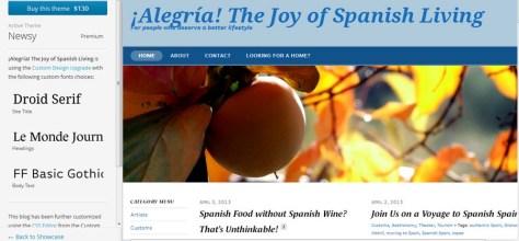 ¡Alegria! on WordPress