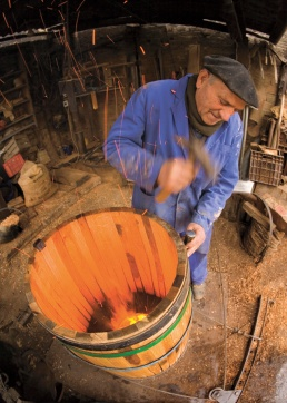 Traditional barrel maker