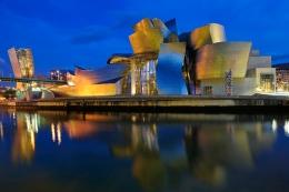 Guggenheim Bilbao dusk