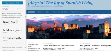 WordPress Alegria kudos