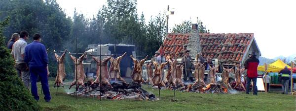 Asturian lamb roast