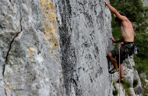 climbing Asturias