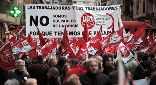 Spanish crisis protest