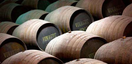 Spanish vinegar barrels