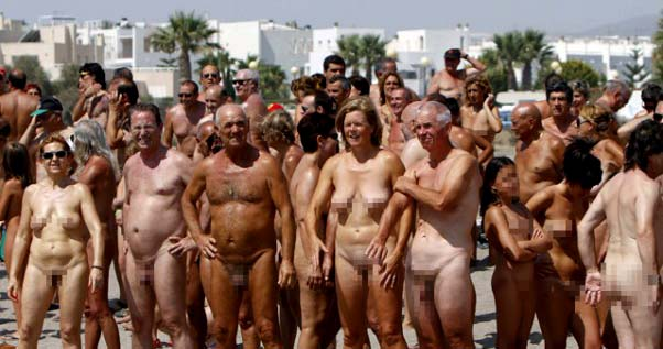 Nudist beach Spain