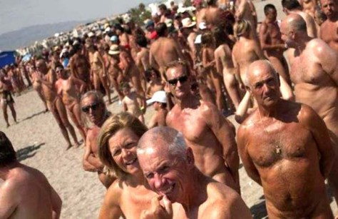 Nudist beach Spain