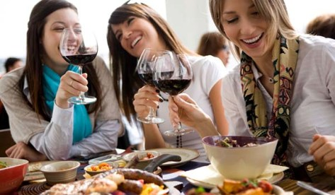 Spanish wine drinkers