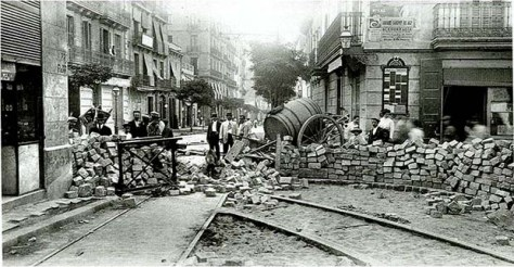 Tragic Week barricades