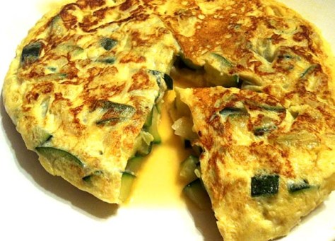 Spanish courgette omelette