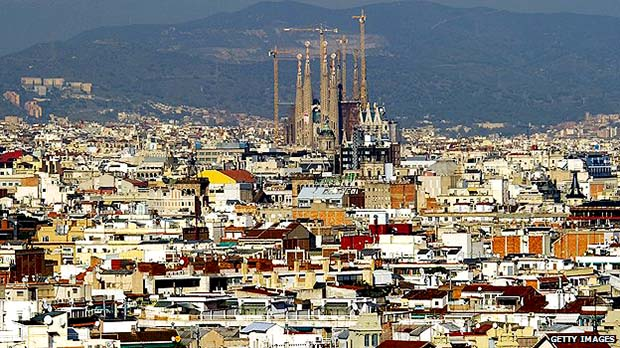Barcelona panorama Spain