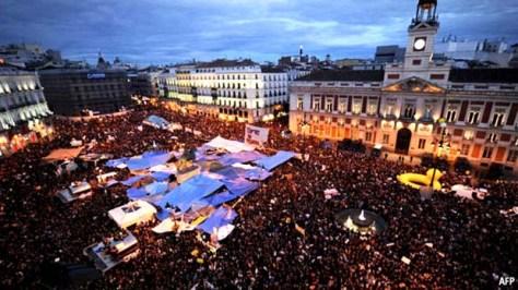 Indignados demonstration Madrid