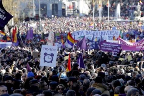 Progressives demonstration Madrid